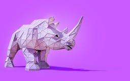 Rinoceronte de la papiroflexia bajo polivinílico Imagen de archivo