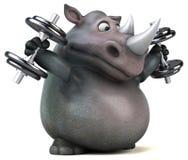 Rinoceronte di divertimento - illustrazione 3D Immagini Stock Libere da Diritti