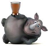 Rinoceronte di divertimento - illustrazione 3D Immagine Stock