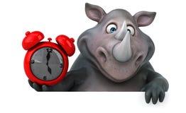Rinoceronte di divertimento - illustrazione 3D Fotografie Stock Libere da Diritti