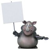 Rinoceronte di divertimento - illustrazione 3D Fotografia Stock Libera da Diritti
