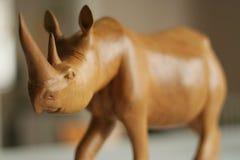 Rinoceronte di legno Fotografia Stock