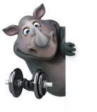 Rinoceronte do divertimento - ilustração 3D Fotografia de Stock