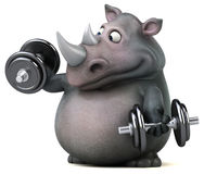 Rinoceronte do divertimento - ilustração 3D Imagem de Stock