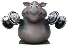Rinoceronte do divertimento - ilustração 3D Imagens de Stock