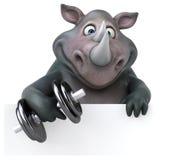 Rinoceronte do divertimento - ilustração 3D Foto de Stock Royalty Free