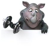 Rinoceronte do divertimento - ilustração 3D Fotografia de Stock Royalty Free