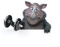 Rinoceronte do divertimento - ilustração 3D Foto de Stock