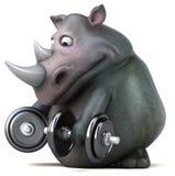 Rinoceronte do divertimento - ilustração 3D Fotos de Stock Royalty Free