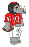 Rinoceronte do futebol americano Foto de Stock Royalty Free