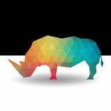 Rinoceronte do teste padrão da cor do vetor Imagem de Stock Royalty Free
