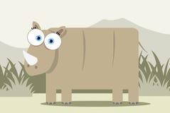 Rinoceronte dos desenhos animados Imagens de Stock Royalty Free