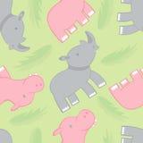 Rinoceronte e reticolo dell'ippopotamo Fotografia Stock Libera da Diritti