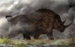 Rinoceronte lanoso royalty illustrazione gratis