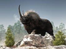 Rinoceronte lanoso illustrazione vettoriale