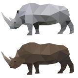 Rinoceronte poligonal abstracto Fotografía de archivo libre de regalías