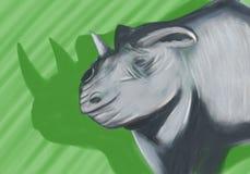 Rinoceronte preto imagens de stock