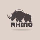 Rinoceronte Silhoulette Fotografia Stock