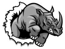 Rinoceros het scheuren royalty-vrije illustratie