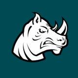 Rinoceros hoofdmascotte Royalty-vrije Stock Fotografie