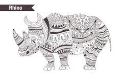 rinoceros Vector geïsoleerde illustratie Royalty-vrije Stock Foto's