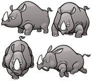 rinocerossen stock illustratie