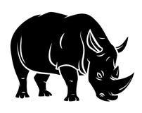 Rinocerostatoegering Stock Foto