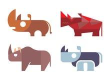 Rinocerosvector Royalty-vrije Stock Foto