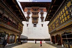 Rinpung Dzong в Бутане стоковое изображение rf
