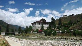 Rinpung Dzong в Paro, Бутане Стоковая Фотография