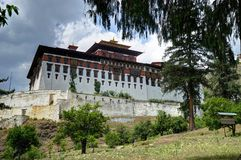 Rinpung Dzong in Bhutan royalty-vrije stock foto