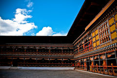 The Rinpung Dzong Fort in Paro, Bhutan Royalty Free Stock Photos