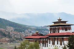 Rinpung Dzong, la forteresse historique de Dzong et monastère dans Paro, Bhutan Images libres de droits