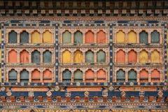 Rinpung Dzong - Paro - Bhutan Stock Afbeelding