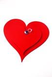 Rins op rode harten Royalty-vrije Stock Foto