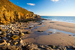 Rinsey Beach Porthcew Cornwall Stock Image