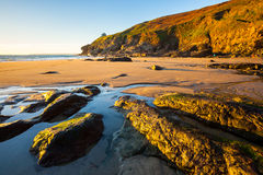 Rinsey Beach Porthcew Cornwall Stock Images