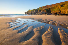 Rinsey Beach Porthcew Cornwall Royalty Free Stock Image