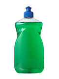 Rinsing liquid. A bottle made of plastic filled with green rinsing liquid Royalty Free Stock Image