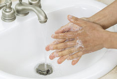 Rinsing soap off hands Royalty Free Stock Photos