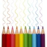 Rintracciamento variopinto delle matite Immagini Stock
