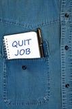 Rinunci il messaggio di job Fotografia Stock Libera da Diritti