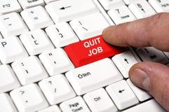 Rinunci il tasto di job Immagine Stock