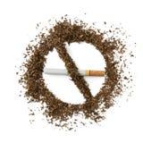Rinunci l'immagine contro il fumo resa Smoking Fotografia Stock Libera da Diritti