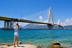 Rio–Antirrio Bridge. royalty free stock images