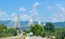 Rio–Antirrio Bridge, Greece. royalty free stock image