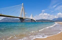 Rio–Antirrio Bridge, Greece. stock images