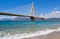 Rio–Antirrio Bridge, Greece. stock photos