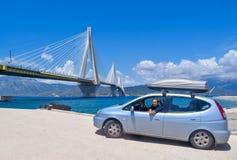 Rio–Antirrio Bridge, Greece. royalty free stock images