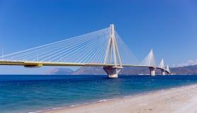 Rio–Antirrio bridge, Peloponnese, Greece Stock Photography